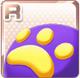 Paw-Print Cushion Purple