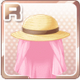 Protective Straw Hat Pink