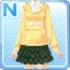 Hoodie & Skirt Yellow