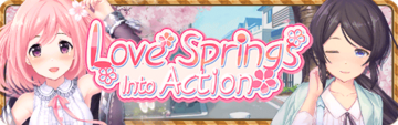 Love Springs Into Action Banner