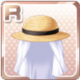 Protective Straw Hat White