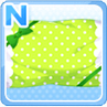 Lovely Dotted Pillow Green