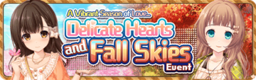 Delicate Hearts And Fall Skies Event Banner