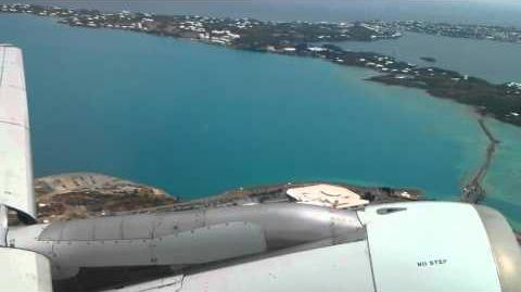 Airbus A319 EOW takeoff from LF Wade Bermuda landing Charlotte Douglas North Carolina flight video