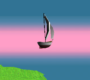 Floating Sail Boat
