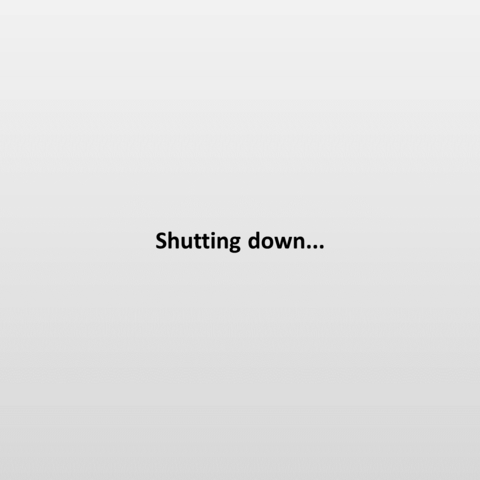 The shutdown screen