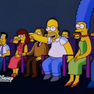 The screen bug during after-primetime shows (in this case, an episode of The Simpsons)
