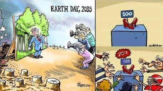 THE IRONY OF TODAY'S WORLD ILLUSTRATIONS