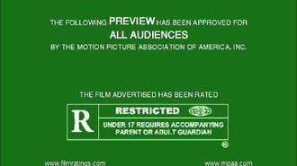 MPAA Film Rating Preview Boards (V4; Homemade)