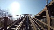 The Beast AWESOME Wooden Roller Coaster POV Kings Island Ohio
