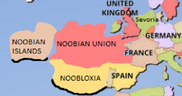 Map of the United Noobian Nations