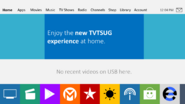 TVTSUG X9 homescreen
