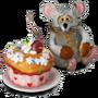 Bear mouse deco