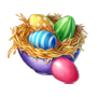 Coll happyeaster colored eggs