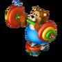 Bear weight-lifter deco
