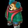 Bear on ice skates deco
