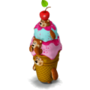 Ice cream pyramid deco