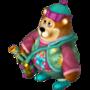 Bear with fireworks deco