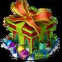 Box with presents deco
