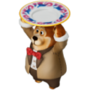 Bear with saucer deco
