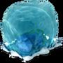 Dinosaur in ice block deco