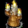 Bear-candlestick deco