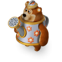 Bear watering-can deco