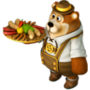 Bear with sausages deco