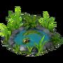 Crocodile in pond deco