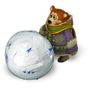 Bear with giant snowball deco