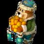 Bear with tangerines deco
