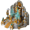 Throne of mystic castle king