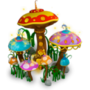 Magical mushrooms deco