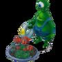 Alien gardener deco