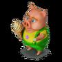Piglet with ice cream deco