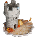 Small tower nonfunctional deco