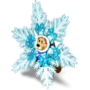 Bear-snowflake deco