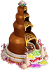 Chocolate fountain structure
