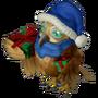 Christmas eagle-owl deco