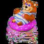 Bear on a swim ring deco