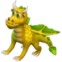 Yellow dragon deco