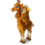 Bear and giraffe friendship deco