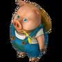 Fiddler pig deco