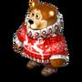 Bear in reindeer sweater deco