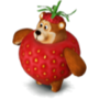 Bear strawberry deco