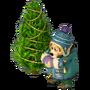Bear with christmas tree deco