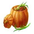 Food in pumpkin
