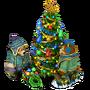 Bears decorating tree deco