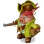 Pig pirate deco