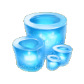 Coll ice frozen candle
